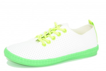 1825A-12 WHITE/NEONGREEN  COLLECTION pak12p. 36-41 1/2 kartonu